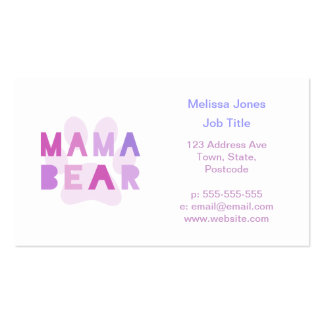 Mama bear Double-Sided standard business cards (Pack of 100)