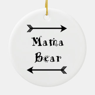 Mama Bear Ceramic Ornament