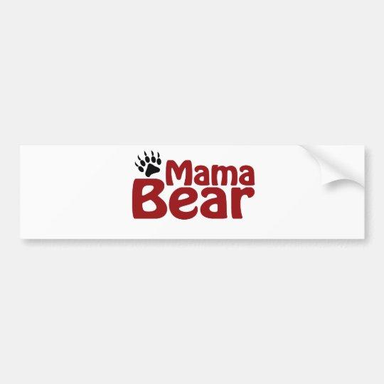Mama Bear Claw Bumper Sticker