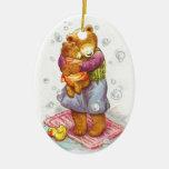 Mama Bear Hug Ceramic Ornament