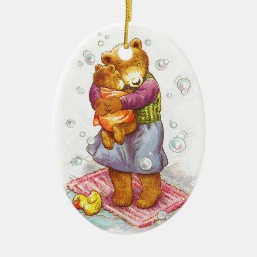 Mama Bear Hug Christmas Ornament