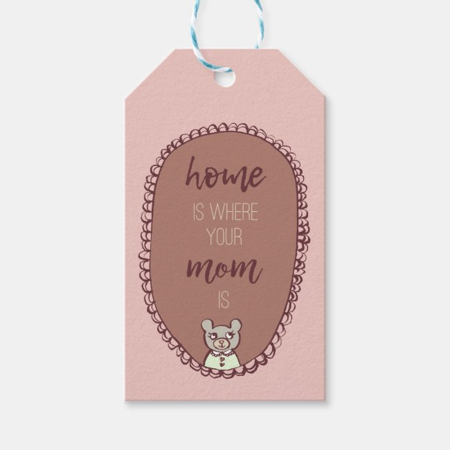 "Mama Bear Illustration ""home is where your mom is"""