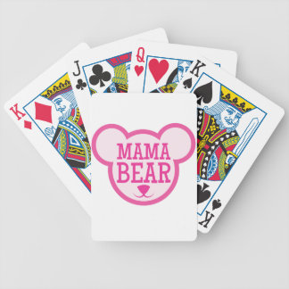 mama bear in teddy head bicycle playing cards