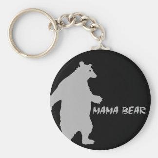 Mama Bear Basic Round Button Keychain