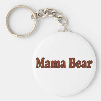Mamá Bear Llavero Redondo Tipo Pin