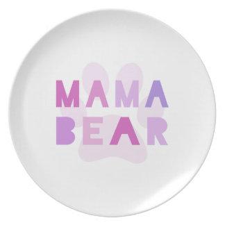 Mama bear dinner plates