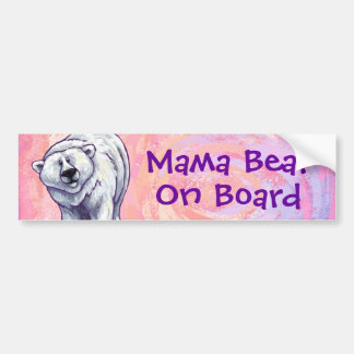 Mama Bear Polar Bear Bumper Sticker