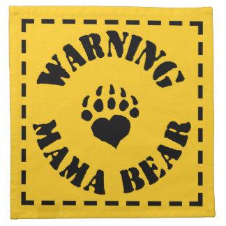 Mamá Bear Warning Servilletas De Papel