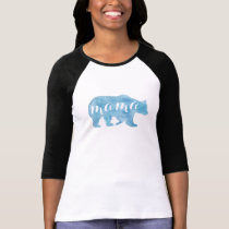 Mama Bear Watercolor Womens Baseball Tee