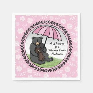 Mamá Bear y Cub, chica personalizado de la fiesta Servilletas Desechables