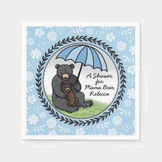 Mamá Bear y Cub, muchacho personalizado de la Servilletas De Papel