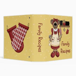 Mama Bears Family Recipes Vinyl Binders