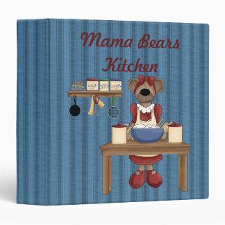 Mama Bears Kitchen Cook Book Binder / 1.5 Inch