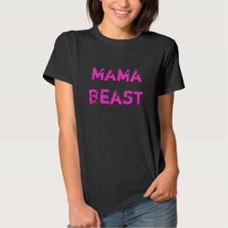 Mama Beast Ladies Petite Pink Workout T-Shirt