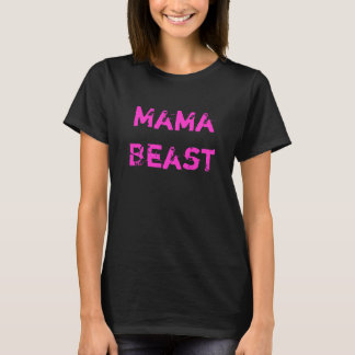 Mama Beast Ladies Petite Pink Workout T-Shirt