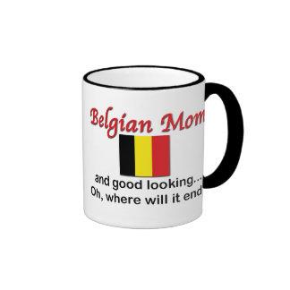 Mamá belga apuesta taza de dos colores