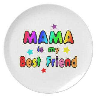 Mama Best Friend Plate