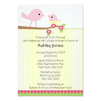 Mama Bird & Baby Baby Shower Card