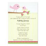 Mamá Bird y fiesta de bienvenida al bebé del bebé Invitación Personalizada