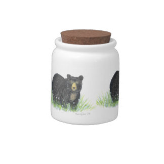 Mama black bear candy jar