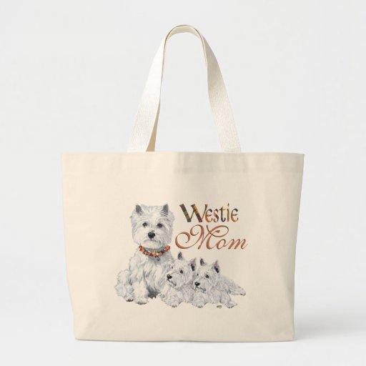 MAMÁ blanca del oeste de Higland Terrier Bolsas