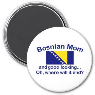 Mamá bosnio apuesta imán redondo 7 cm