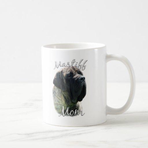 Mamá (brindle) 2 del mastín taza de café