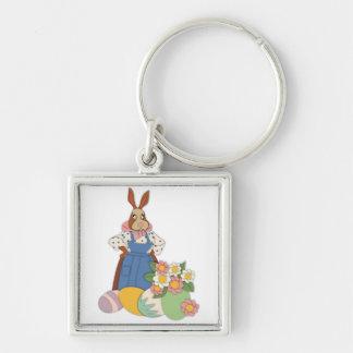 Mama Bunny with Eggs Keychain