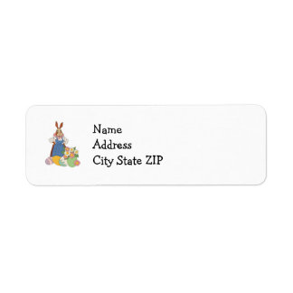 Mama Bunny with Eggs Labels