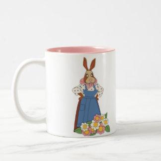 Mama Bunny with Flowers Mug