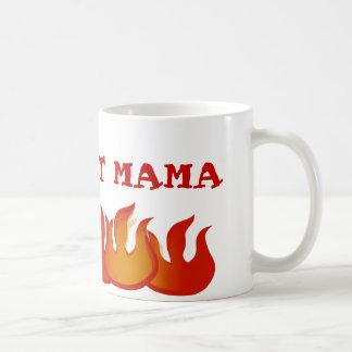 Mamá caliente personalizada Flames Mug Tazas De Café