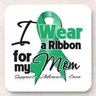 Mamá - cáncer de hígado Ribbon.png Posavasos De Bebidas