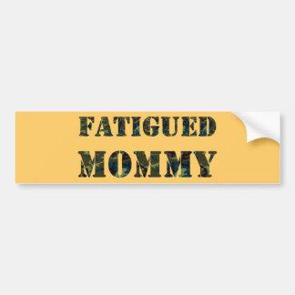 Mamá cansada pegatina para auto