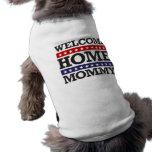 Mamá casera agradable camiseta de mascota