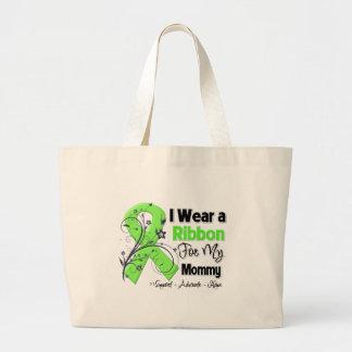 Mamá - cinta del linfoma bolsa lienzo
