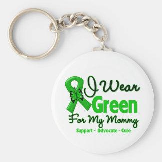 Mamá - cinta verde de la conciencia llaveros
