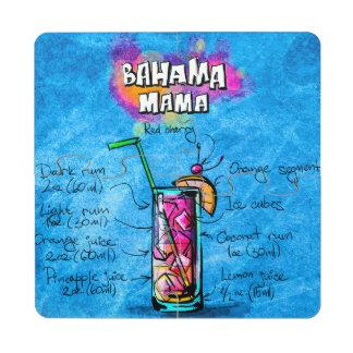Mamá Cocktail Recipe Coaster Puzzle de Bahama Posavasos De Puzzle
