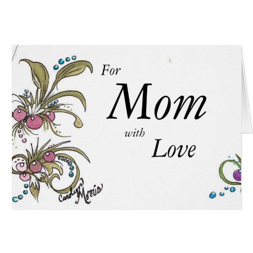 Mamá con amor tarjeta de felicitación