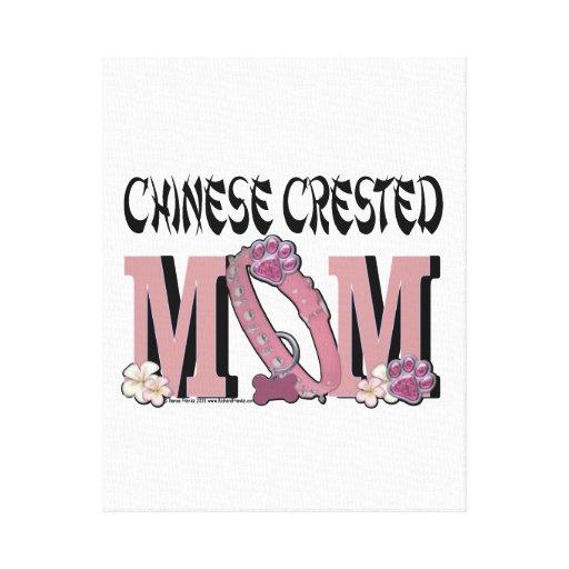 MAMÁ con cresta china Lona Envuelta Para Galerias