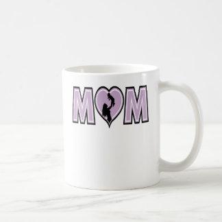 Mamá con el bebé taza de café