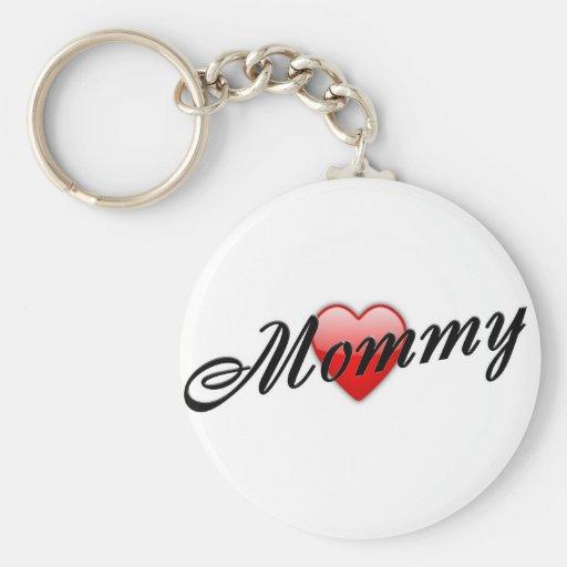 Mamá con el corazón llavero personalizado