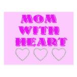 Mamá con el corazón postal
