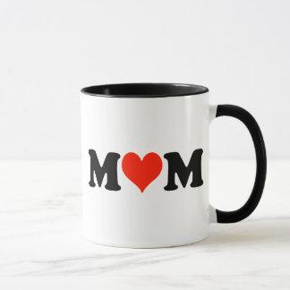 Mamá con una taza del corazón