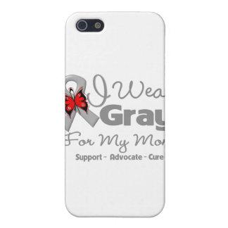 Mamá - conciencia gris de la cinta iPhone 5 fundas