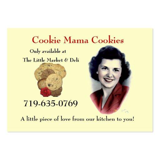 Mamá Cookies de la galleta Tarjetas De Visita Grandes