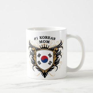 Mamá coreana del número uno tazas