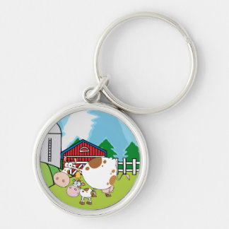 Mama Cow and Baby Cow Keychain