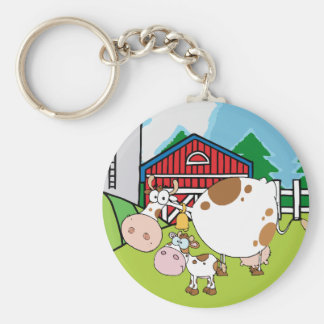 Mama Cow and Baby Cow Keychains