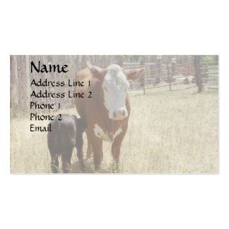 Mama Cow And Calf Business Cards
