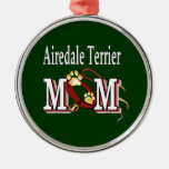 Mamá de Airedale Terrier Adorno De Navidad